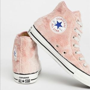 Converse plush high top sneakers - size 6.5